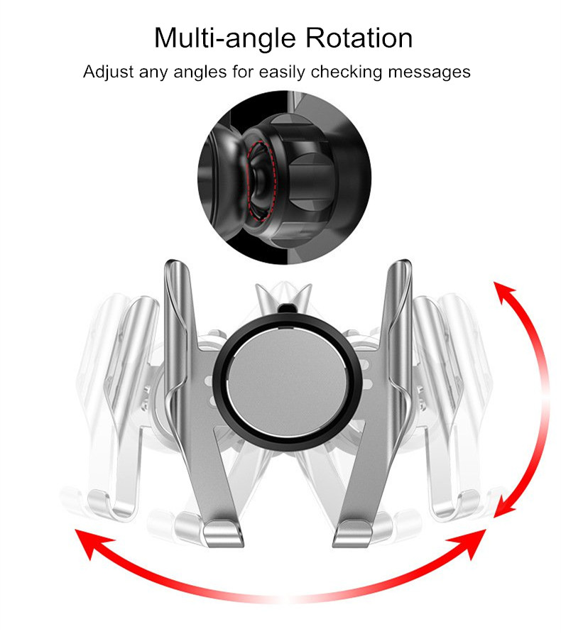 Universal 360 Degree Rotation Car Mount Air Vent Phone Holder Stand for iPhone Xiaomi Mobile Phone