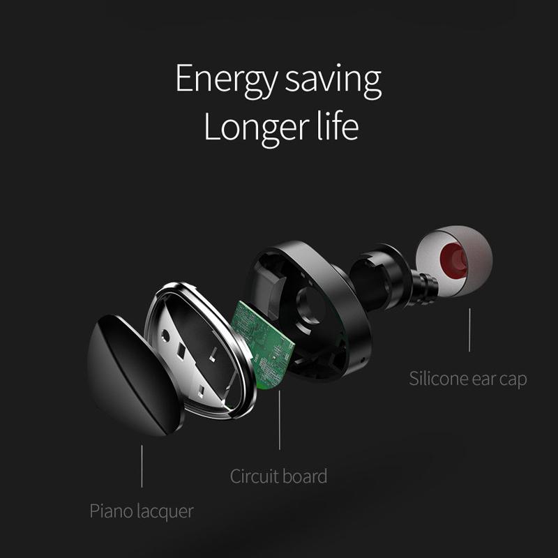 HOCO E7 Mini Wireless bluetooth Earphone Single Noise Reduction Stereo In-ear Headphone with Mic