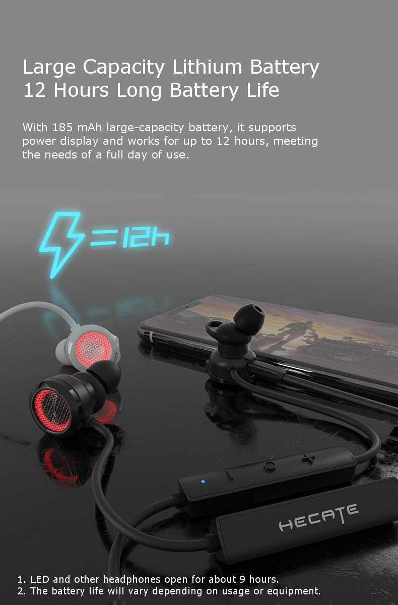 Edifier GM3 Dual Dynamic bluetooth 5.0 Wireless Gaming Earphone LED Hi-fi Noise Cancelling Wired Control Headset Support