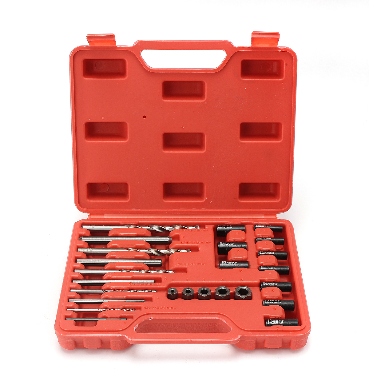 25Pcs Professional Carbon Steel Thread Repair Garage Tool Kit Set With Case