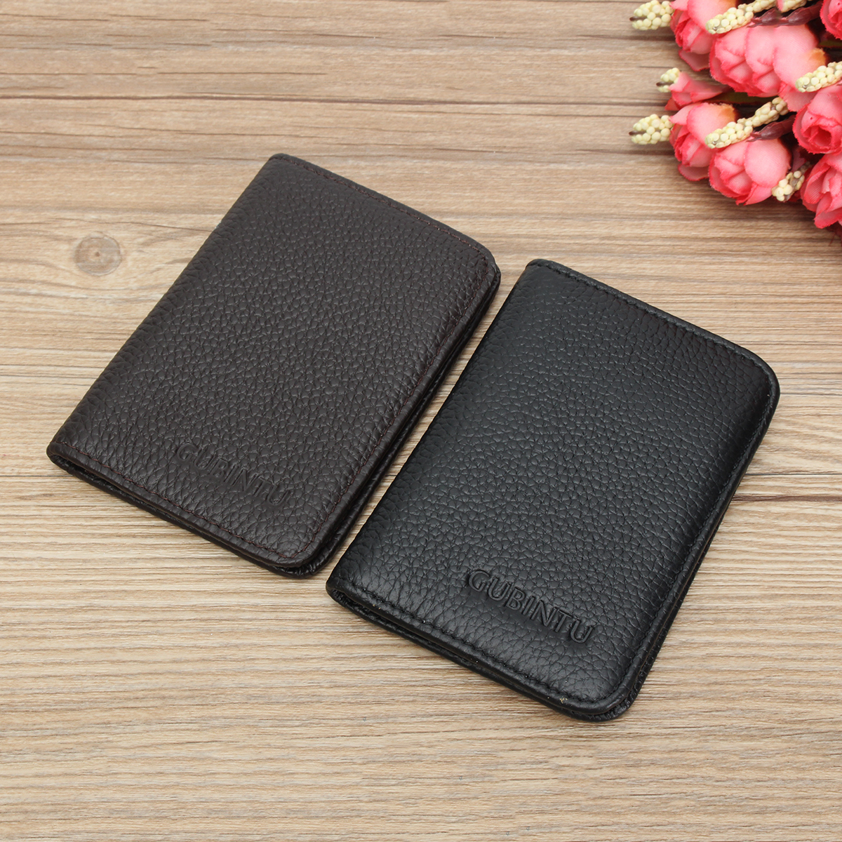 Men Leather RFID Blocking Wallet Bifold Magic Money Clip Slim ID Credit Bank Card Holder