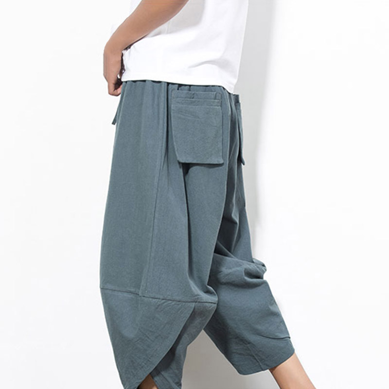 Mens Summer Loose Radish Trousers