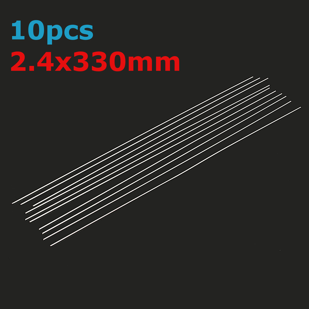 10Pcs 2.4mmx330mm Aluminum Alloy Silver TIG Filler Rods Welding Brazing Wire Tools
