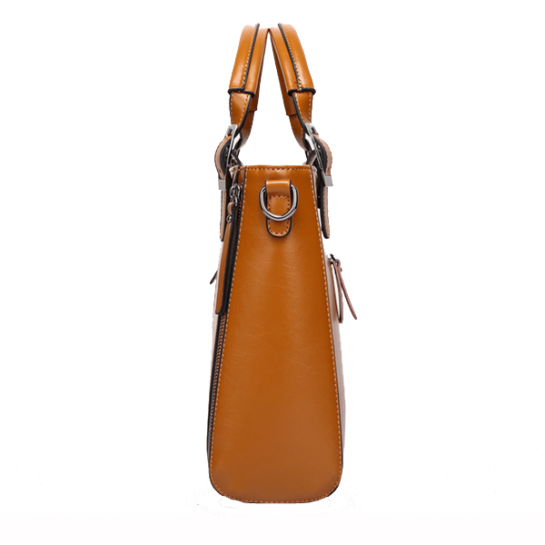 Women High Quality PU Leather Vintage Functional Handbag Shoulder Bag