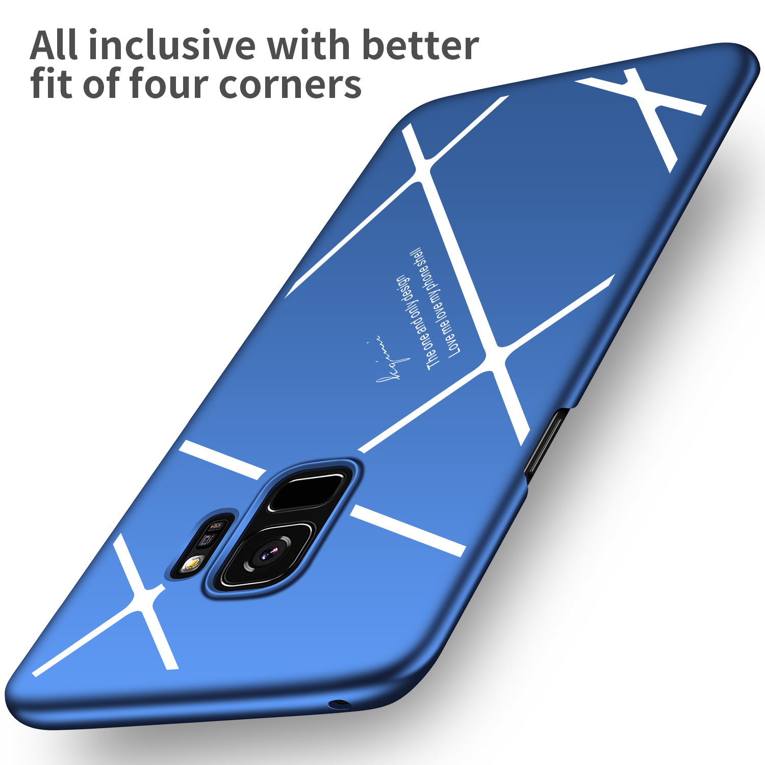 Stripped Lines Pattern Micro Matte Anti Fingerprint Phone Case For Samsung Galaxy S9