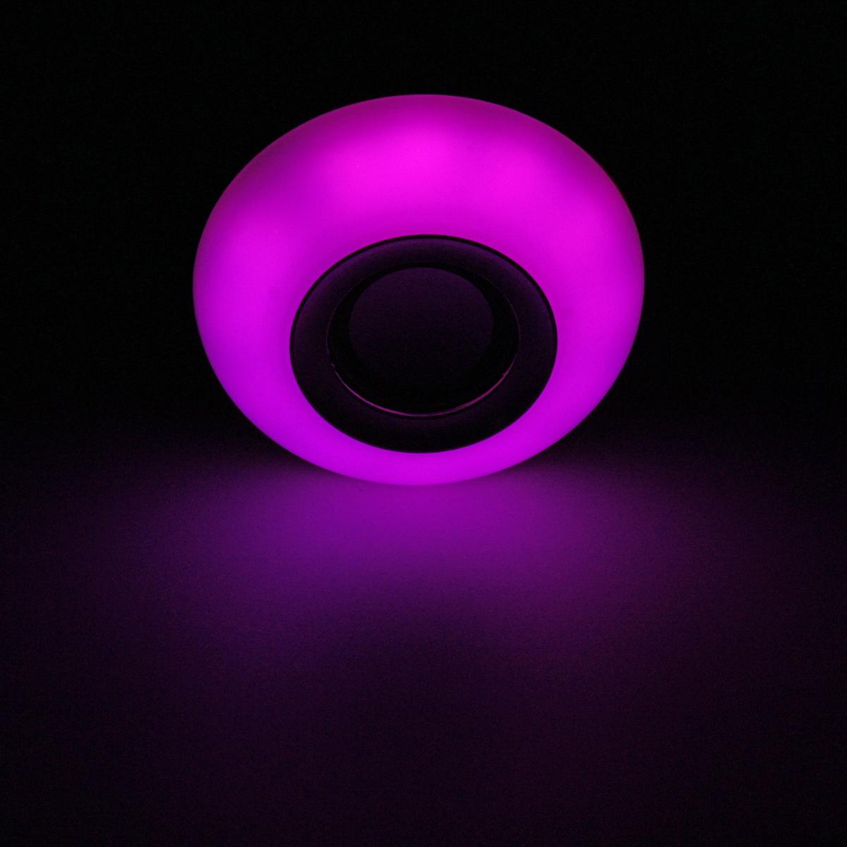 E27 12W RGB LED bluetooth Speaker Wireless Remote Control Music Play Light Bulb AC100-240V