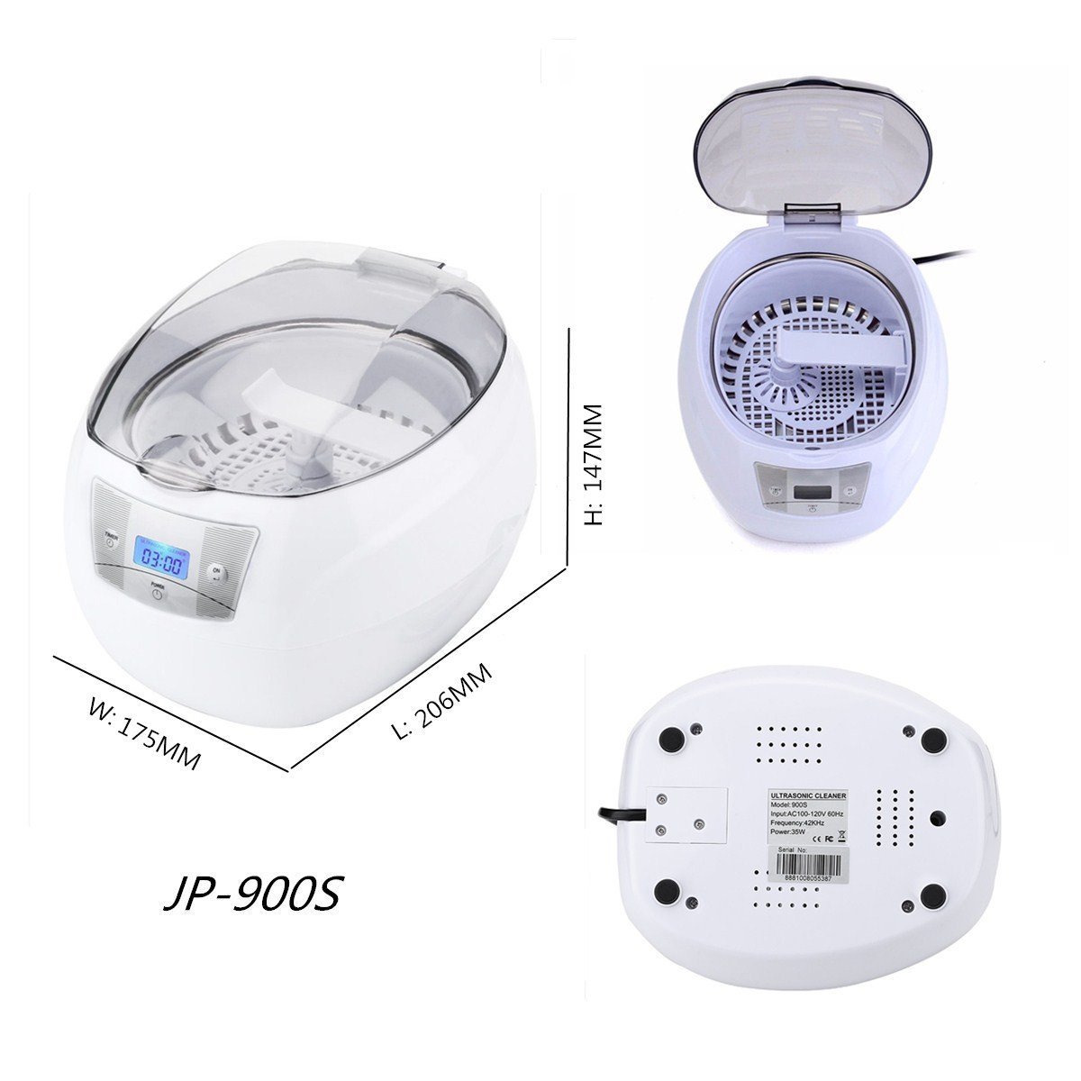 Ultrasonic Cleaning Machine Glasses Jewelry Denture Watch