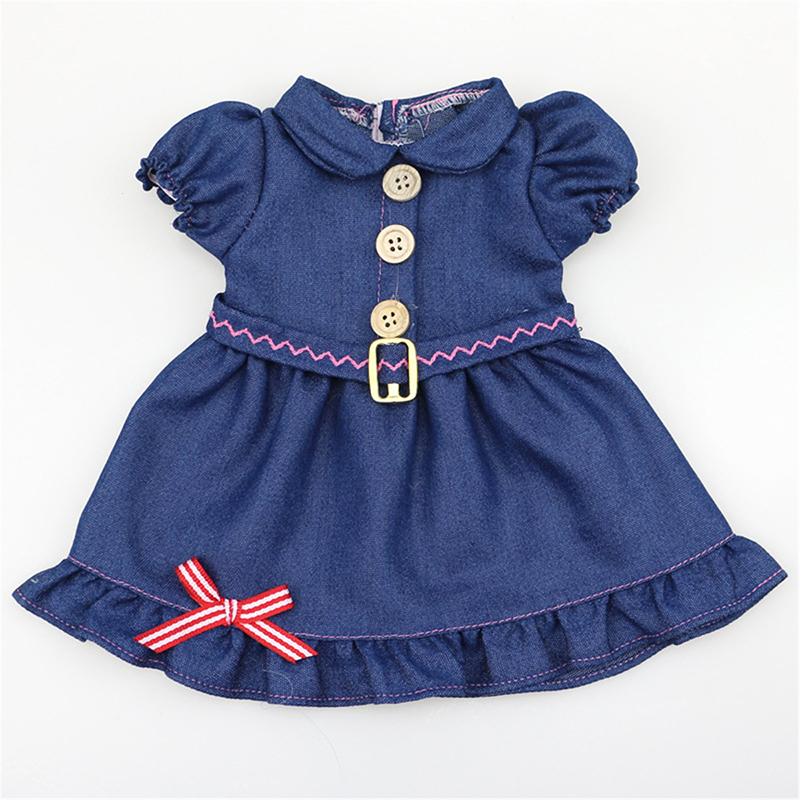Denim Dress Doll Clothes For 18inch American Girl