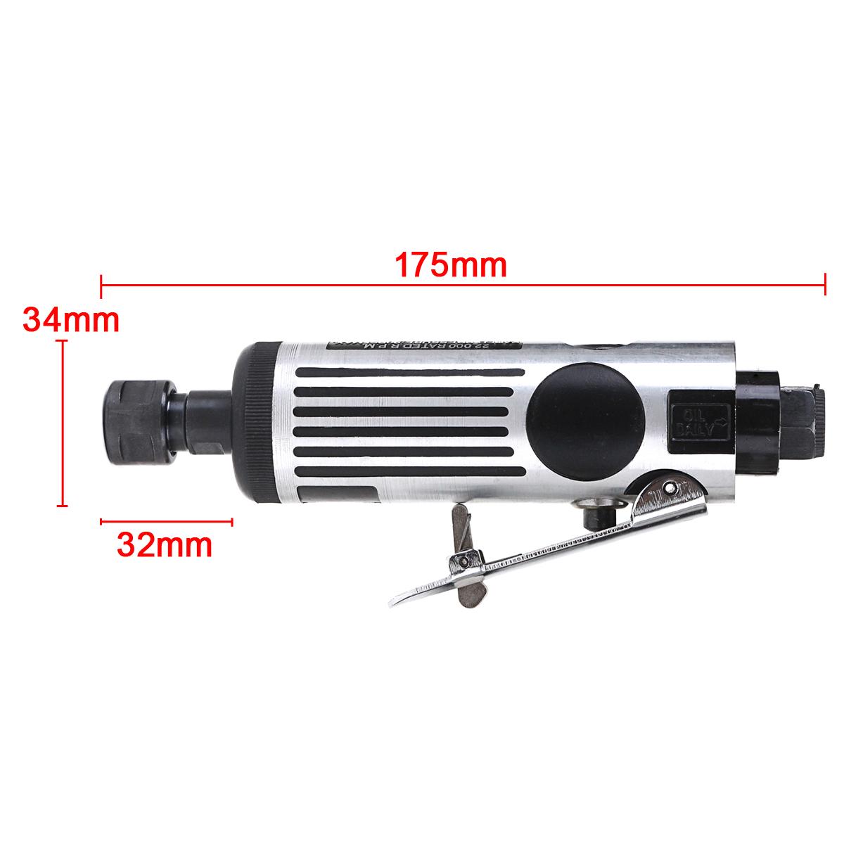 Raitool™ 25000 RPM Air Grinder Mini Air Angle Die Grinder Kit Pneumatic Tools Air Grinding Set Air Tools