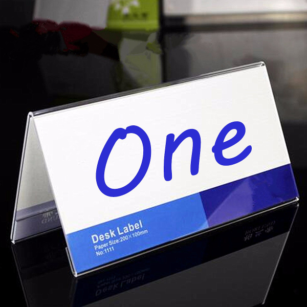 150x80MM Acrylic Price Name Number Label Card Holder Display Stand