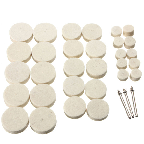 33pcs Soft Felt Electric Mill Polishing Buffing Wheel Mixed Set Accessory For Rotary Tools