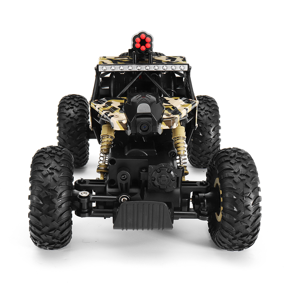 Wltoys 18428-A 1/18 2.4G 4WD Missile Rc Car With 0.3MP WIFI FPV Off-road Rock Crawler RTR Toy