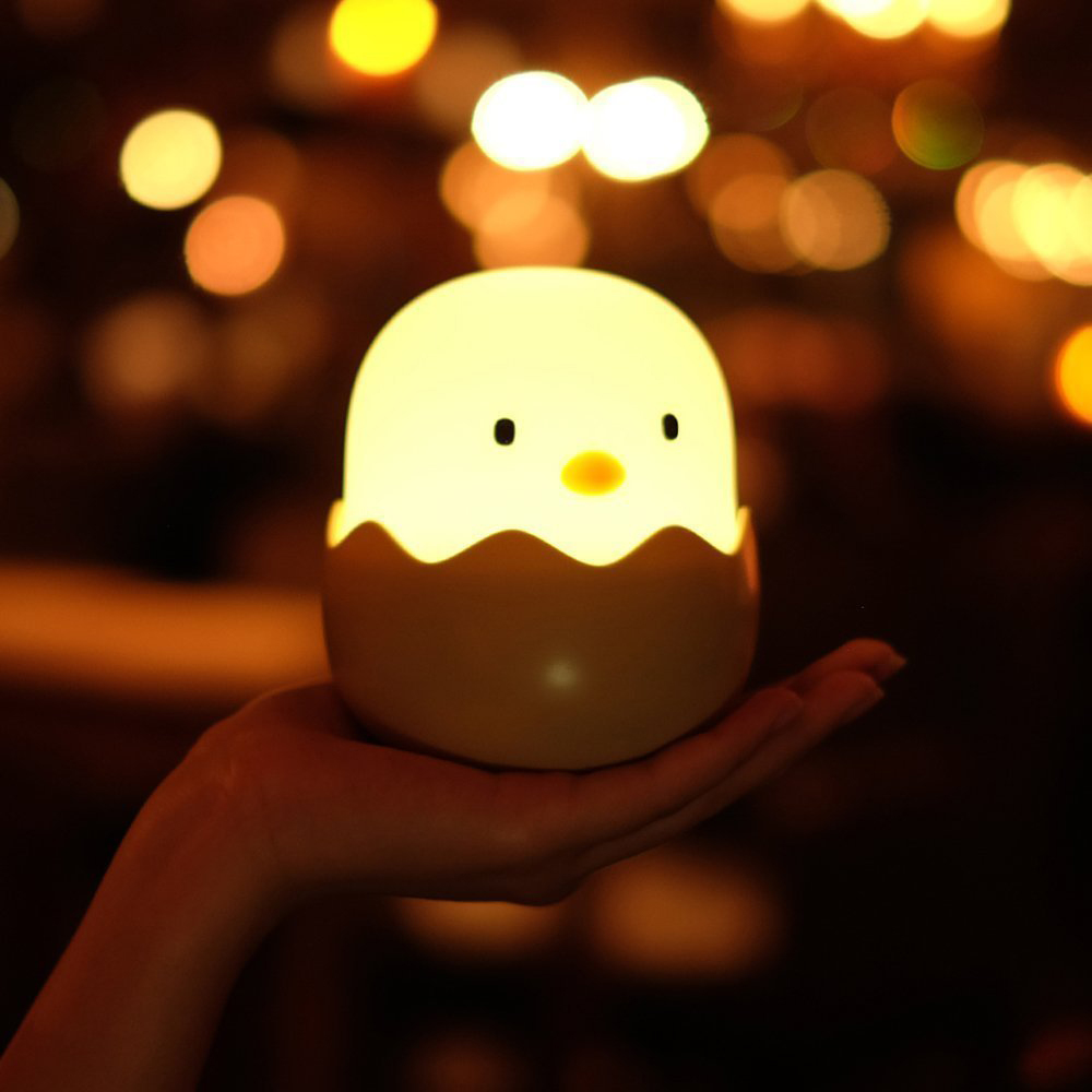 KCASA HC-03 Egg Shape Chick Lamp USB Rechargeable Touch Switch Adjustable Brightness Child Night Light