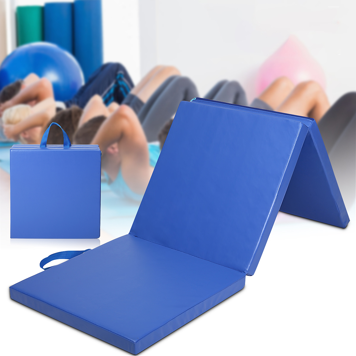 70232inch 3 Folds Gymnastics Mat Yoga Exercise Gym Portable Airtrack Panel Tumbling Climbing Pilates Pad Cushion