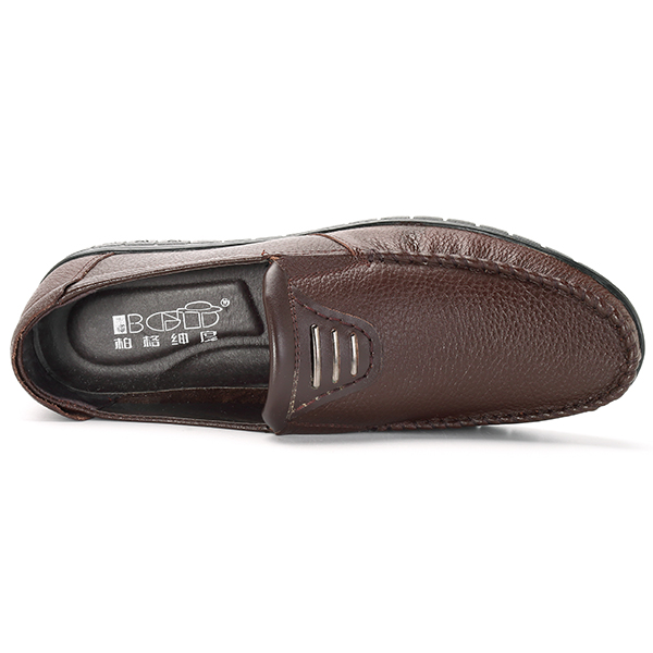 Leather Casual Business Slip On Oxfords for Men