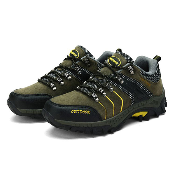 Men Breathable Wear Resistance Outsole Outdoor Hiking Athletic Shoes