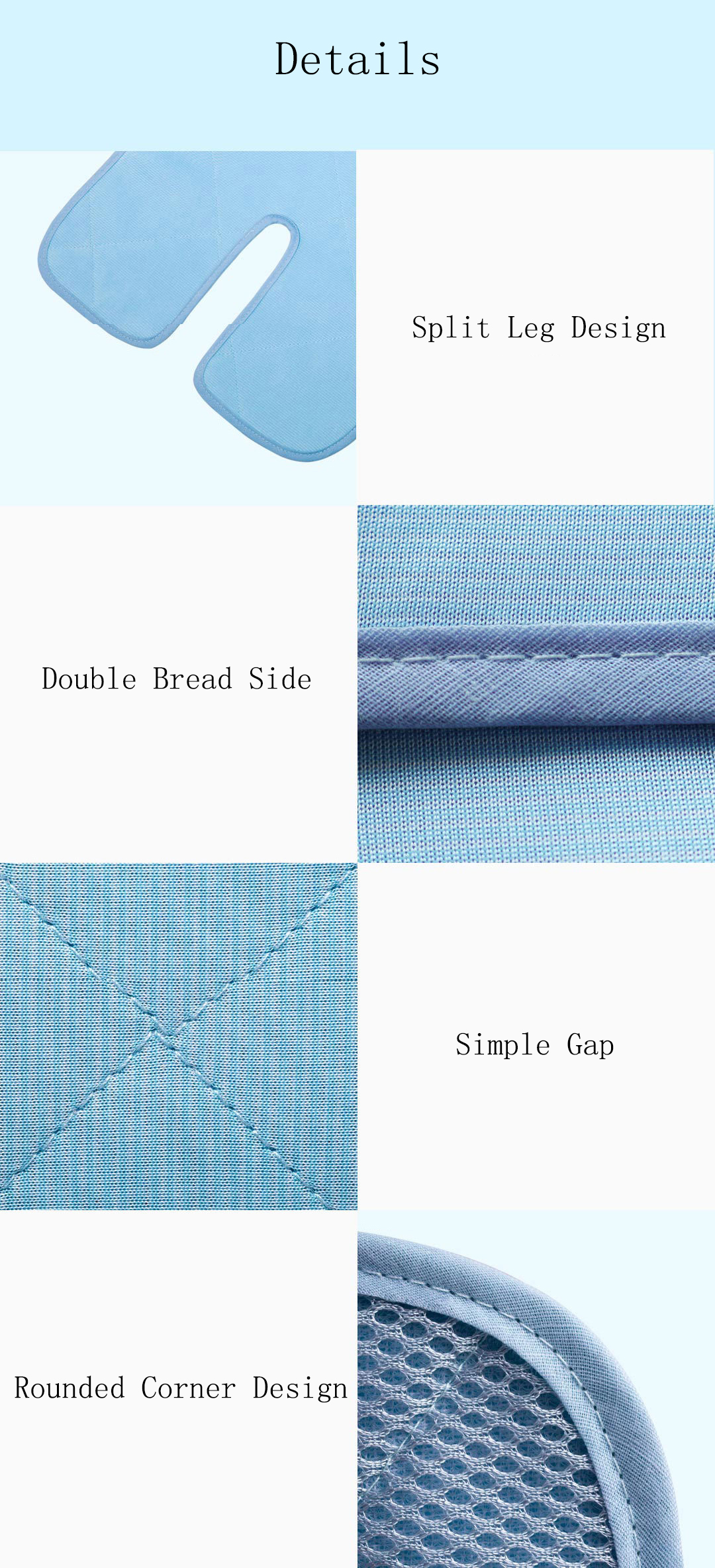 XIAOMI QBRON Stroller Cool Mat Breathe Baby Pad Liner for Summer Mesh Cushion for Infant Car Seat