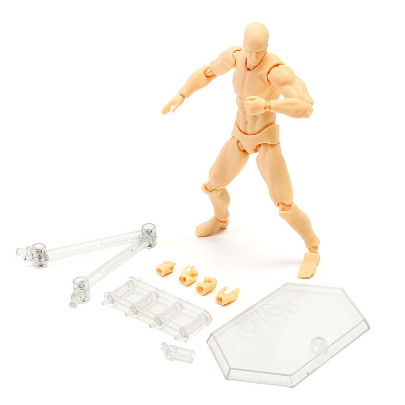 Anime Clear Crystal Archetype Action Figure 2.0 Doll Male Skin Color DIY Action Figure Model Toy