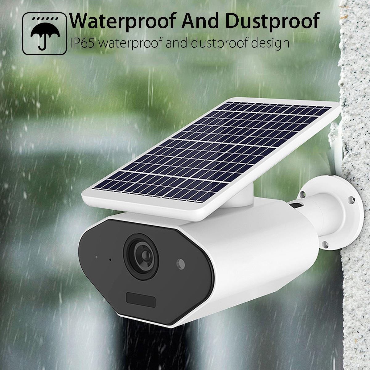 Solar Powered Wireless WiFi 1080P IP Camera Waterproof 143° Angle Night Vesion Two Way Intercom