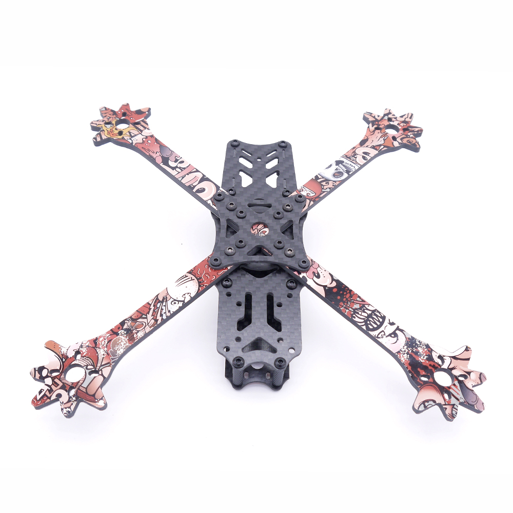 Venom 5 Inch 235mm Wheelbase X Style Split 4mm Arm Frame Kit Carbon Fiber with Sticker for RC Drone FPV Racing - Photo: 8