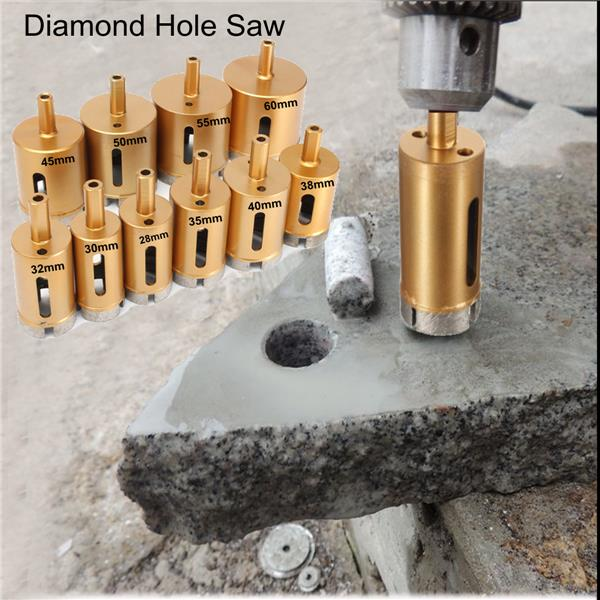 28-60mm Hole Saw Drill Core Bit For Marble Granite Tile Ceramic
