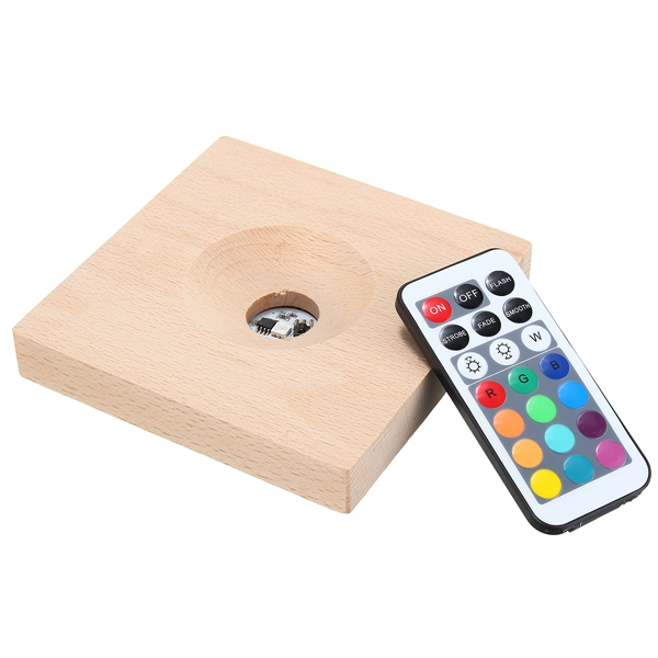 Remote Control Gradient RGB LED Base Multicolor Lamp Holder
