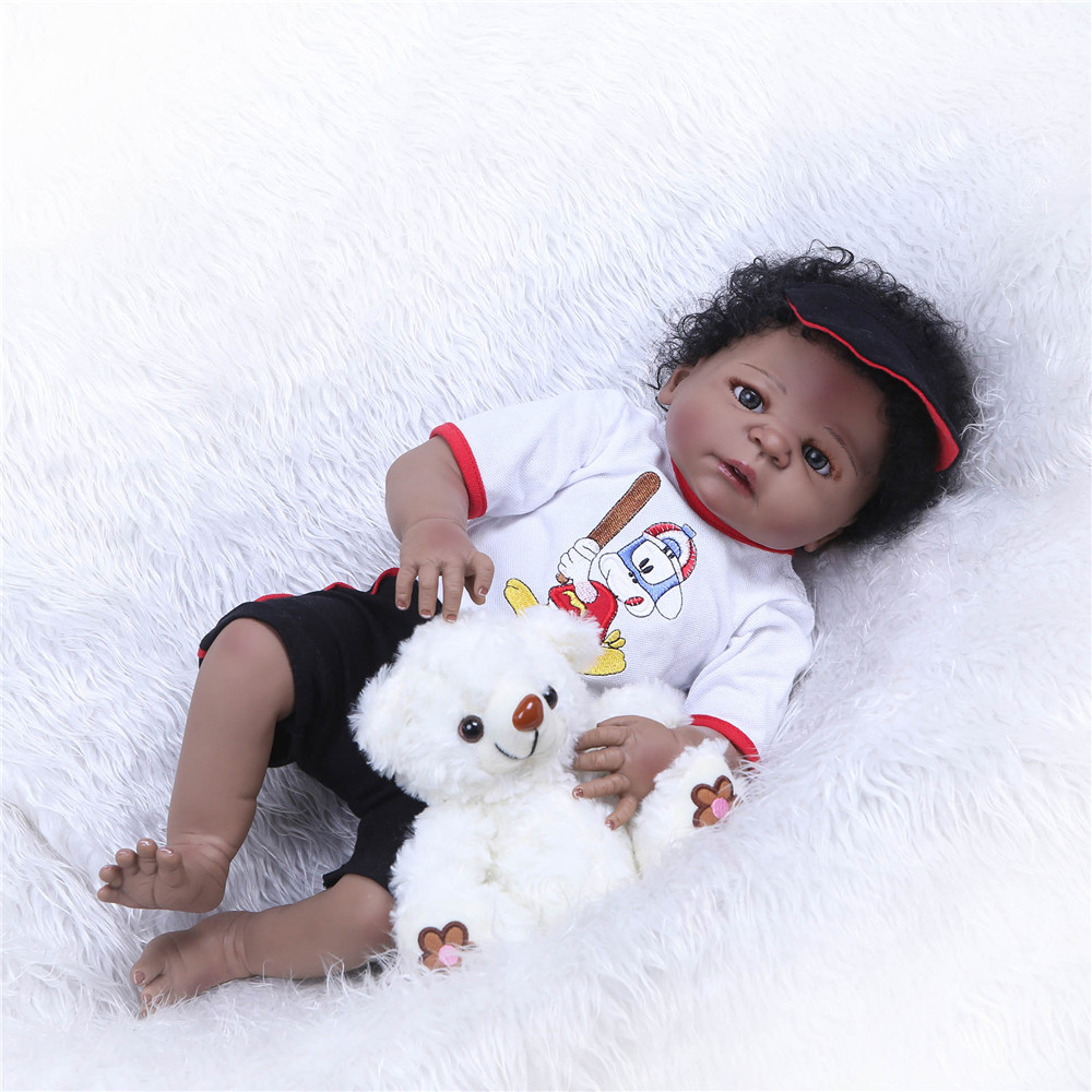 NPK 23'' Full Vinyl Reborn Baby Doll Lifelike Boy Handsome Realistic Silicone Baby Doll Toy