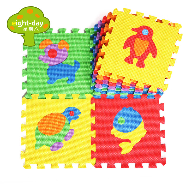 10pcs Cartoon Animal Puzzle Mat Kids Play Mat Anti-fall Crawling Mat Carpet in The Nursery Baby Activity Mat