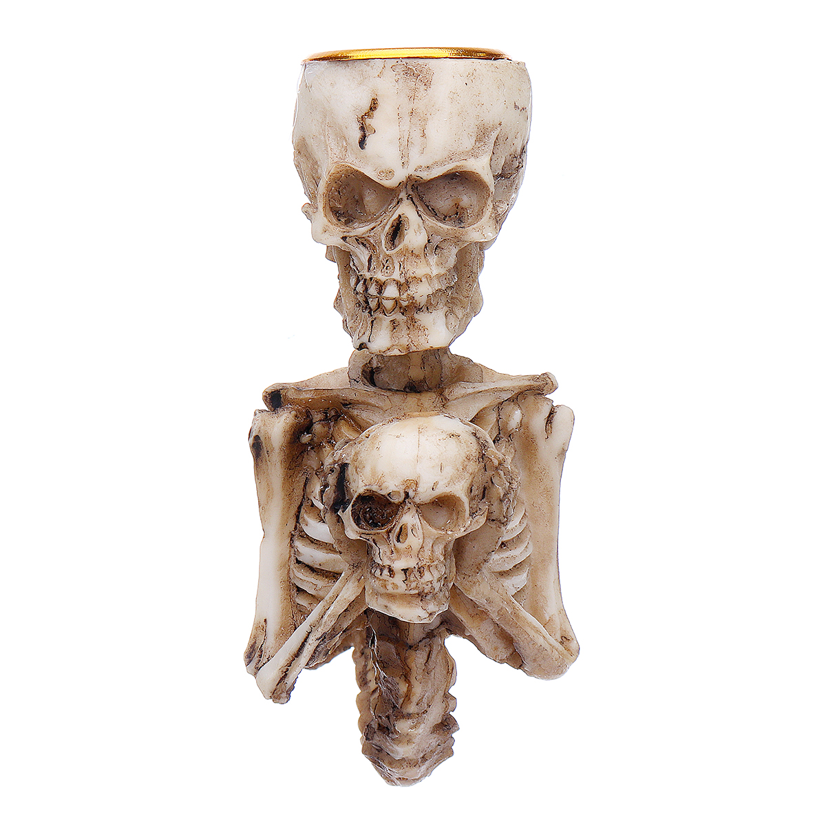 Resin Craft Statues Skull Candlestick Creative Figurines Sculpture Decorations