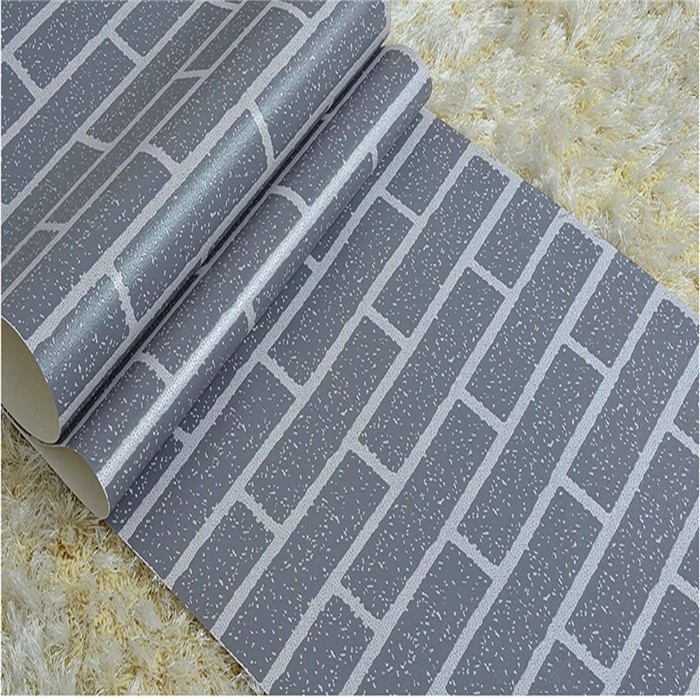 10m Vintage 3D Effect Natural Embossed Stack Stone Brick Tile Vinyl Wallpaper Home Wall Decor