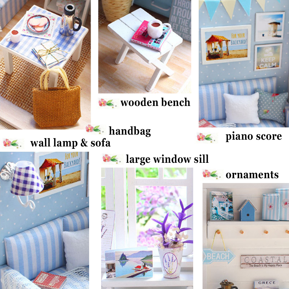 Doll House Furniture Diy Miniature Dust Cover 3D Wooden Miniaturas Dollhouse Toys for Children Birthday Gifts