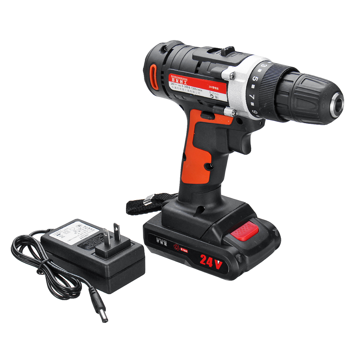 12V/24V Lithium Battery Power Drills Cordless Rechargeable 2 Speed Electric Drill