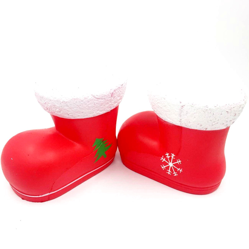 Chameleon Squishy Christmas Boots Santa Clause Boot Slow Rising With Packaging Gift Decor Toy