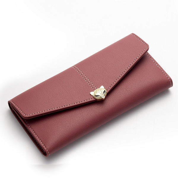 Details: Material PU Leather Color Dark Gray,Brown,Blue,Blue1,Wine Red,Pink,Black Weight 150g Length 18.7cm(7.36') Height 9.5cm(3.74') Width 1.5cm(0.59') Pattern Solid Inner Pocket 10 Card Slots,2 Cash Place,1 Photo Place Closure Hasp Package include: 1*W #purse