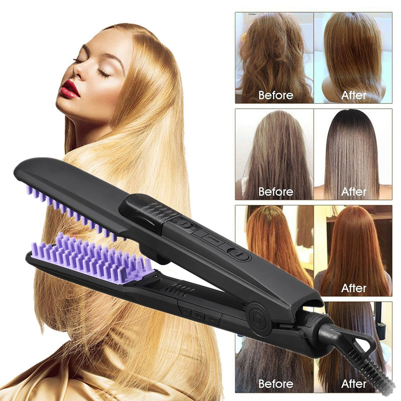 Dry & Wet Steam Hair Straightener