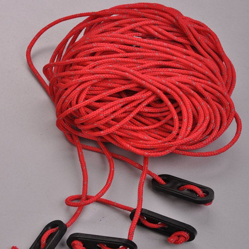 Naturehike 4x4m Reflective Tent Rope Windproof Rope Guy Line Awning With Adjustable Button