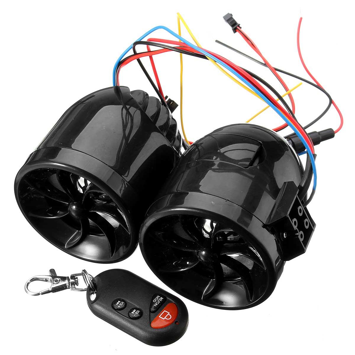 Motorcycle FM Mp3 Amplifier Waterproof Speakers Anti Theft Alarm Audio Stereo Player