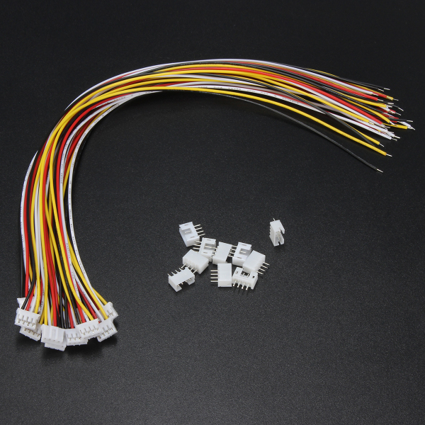 Excellway® 10 Sets Mini JST 2.0mm PH 4Pin 26AWG Male Female Connector Plug Wire Cables 300mm