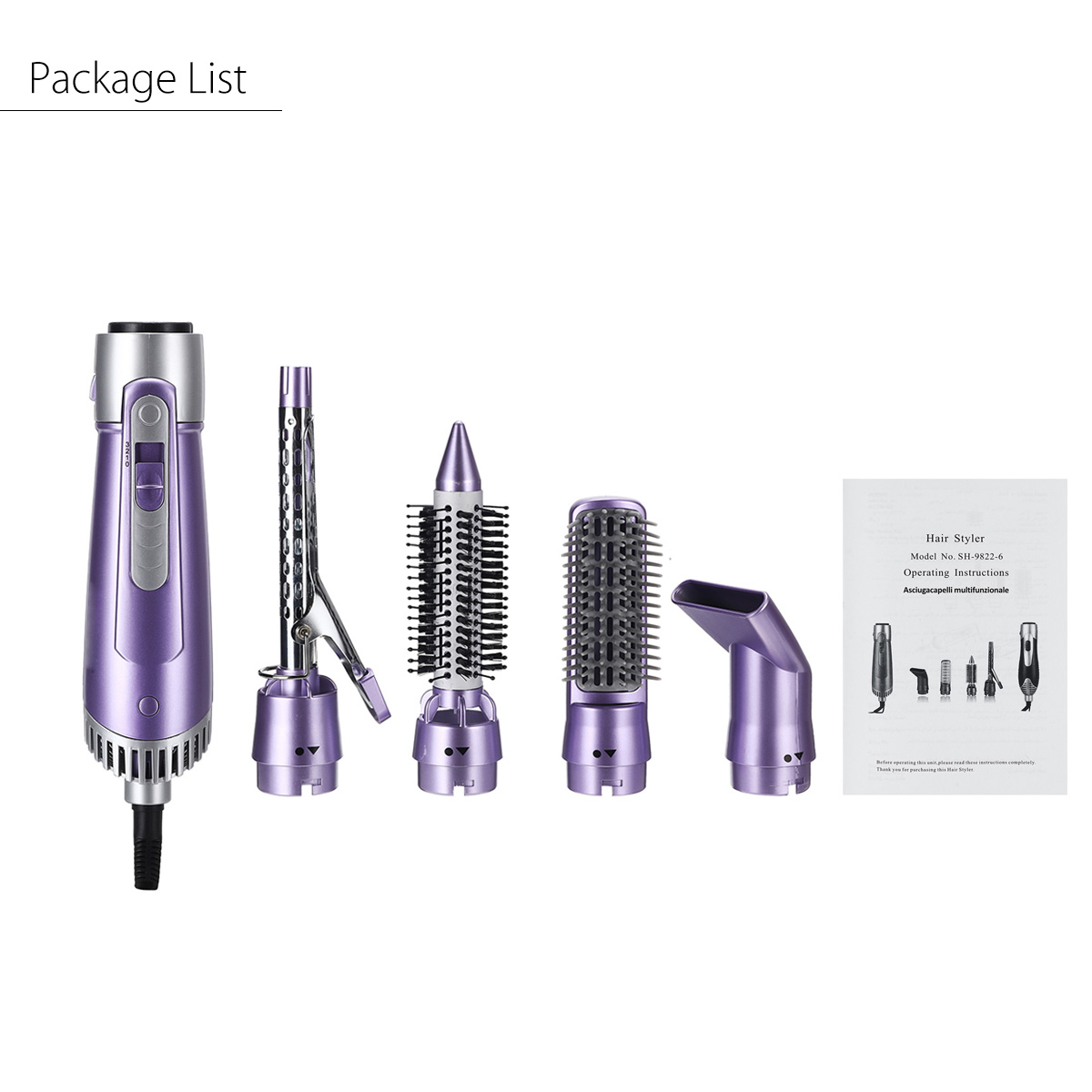 4 In 1 Multifunctional Hair Dryer Brush