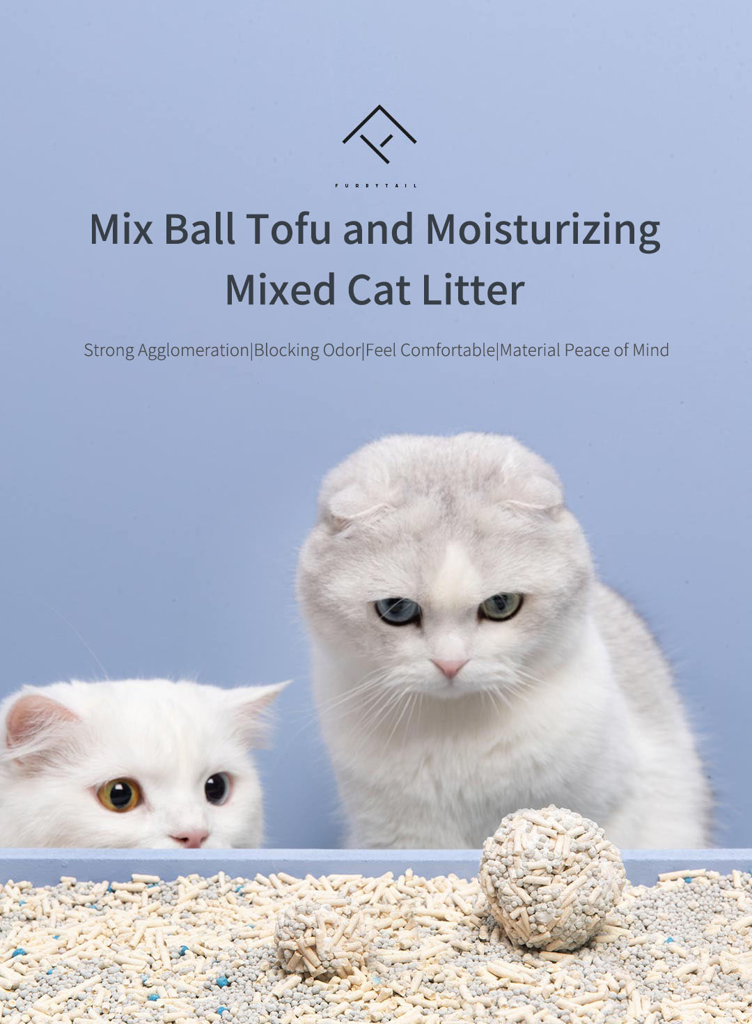 pet poop bags Mix Ball Tofu and Moisturizing Mixed Cat Litter Strong Agglomeration Blocking Odor High Material from Xiaomi Youpin