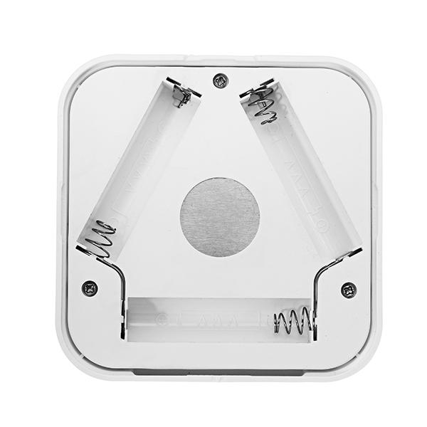 6 LED Warm White/White PIR Motion Sensor Battery Powered Night Light for Closet Cabinet Corridor