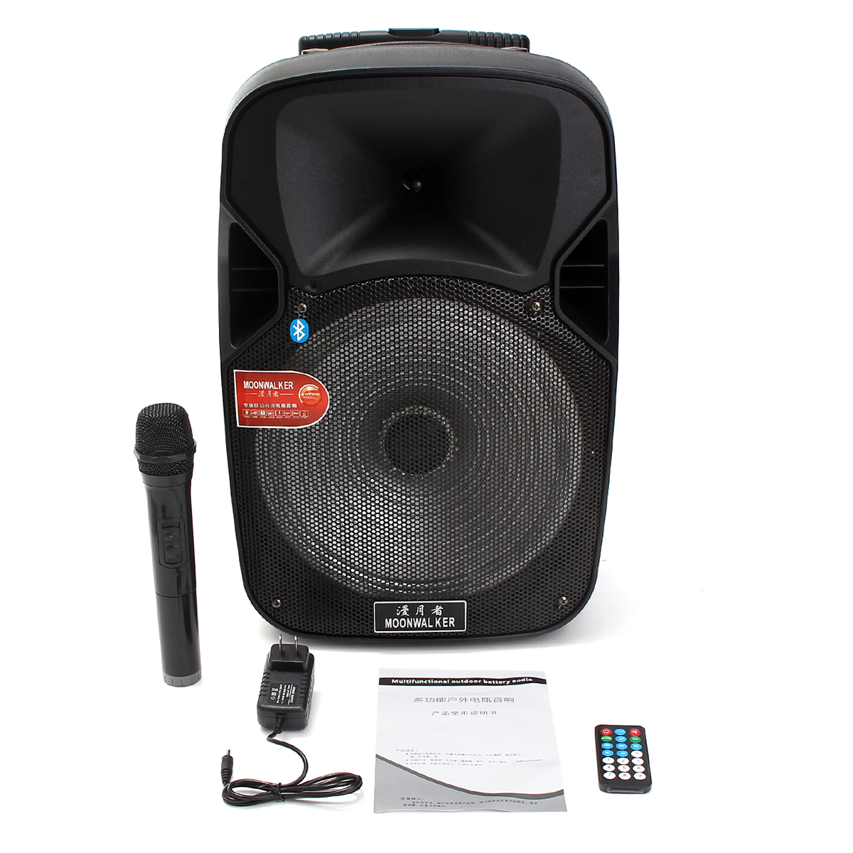 DP05 12 Inch bluetooth Portable KARAOKE Party DJ Speaker System with Light Microphone