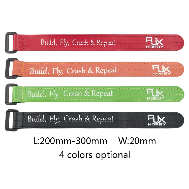 4Pcs RJXHOBBY 200-300mm Nylon Non-Slip Silicone Battery Strap Plastic Buckle for Lipo Battery