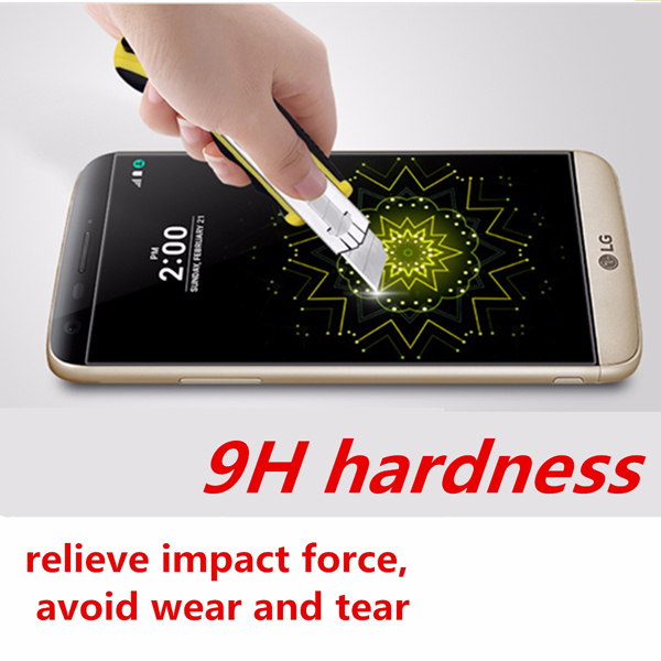 9H 2.5D Front Matte Tempered Film Glass Screen Protector for LG G5