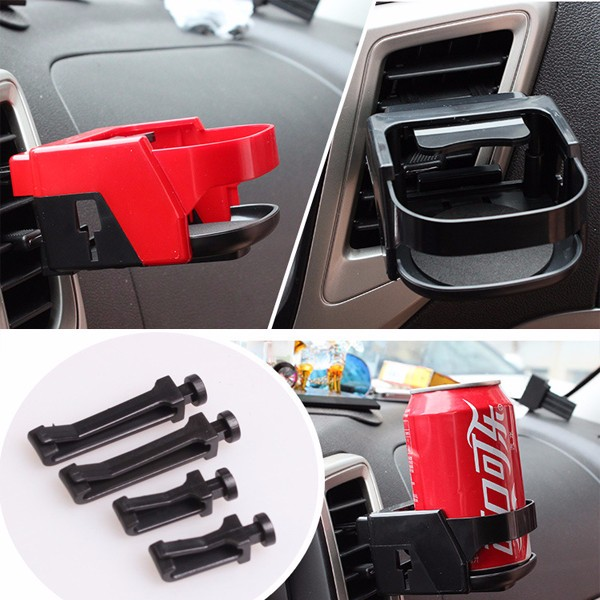 Car Drink Beverage Outlet Cup Stand Sliver Blue Red Black for 7CM Cans