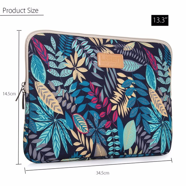 13.3 Inch Soft Canvas Bag Case Cover Sleeve Pouch ffor Laptop Notebook Ultrabook