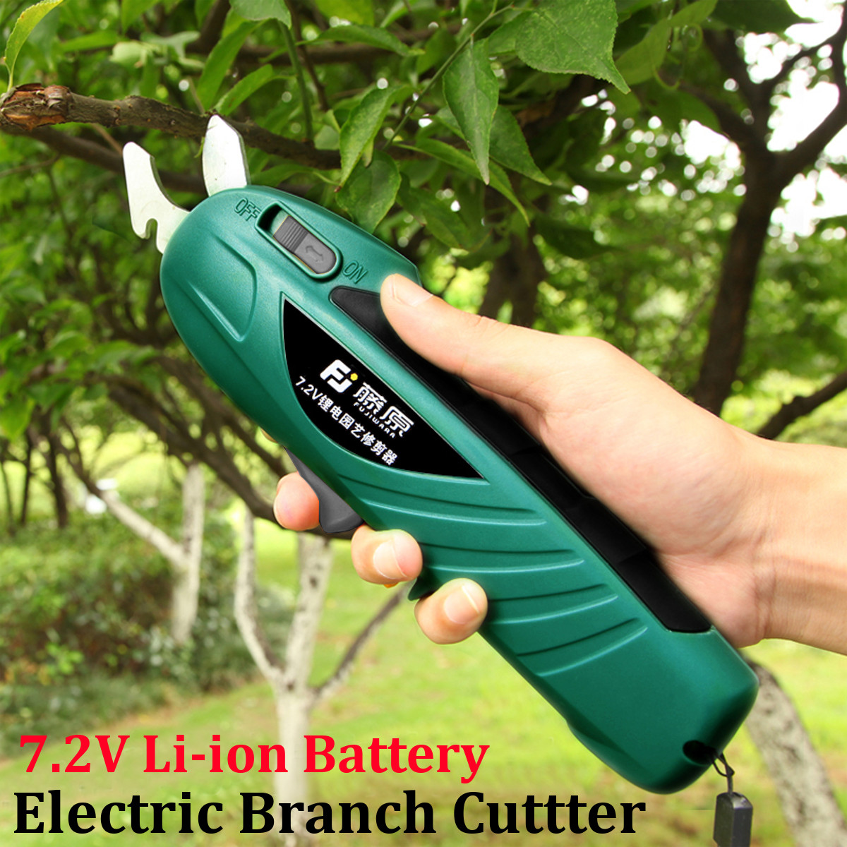7.2V Li-ion Electric Pruning Shears Rechargeable Professional Tree Trimmers Secateurs Cutting Scisso