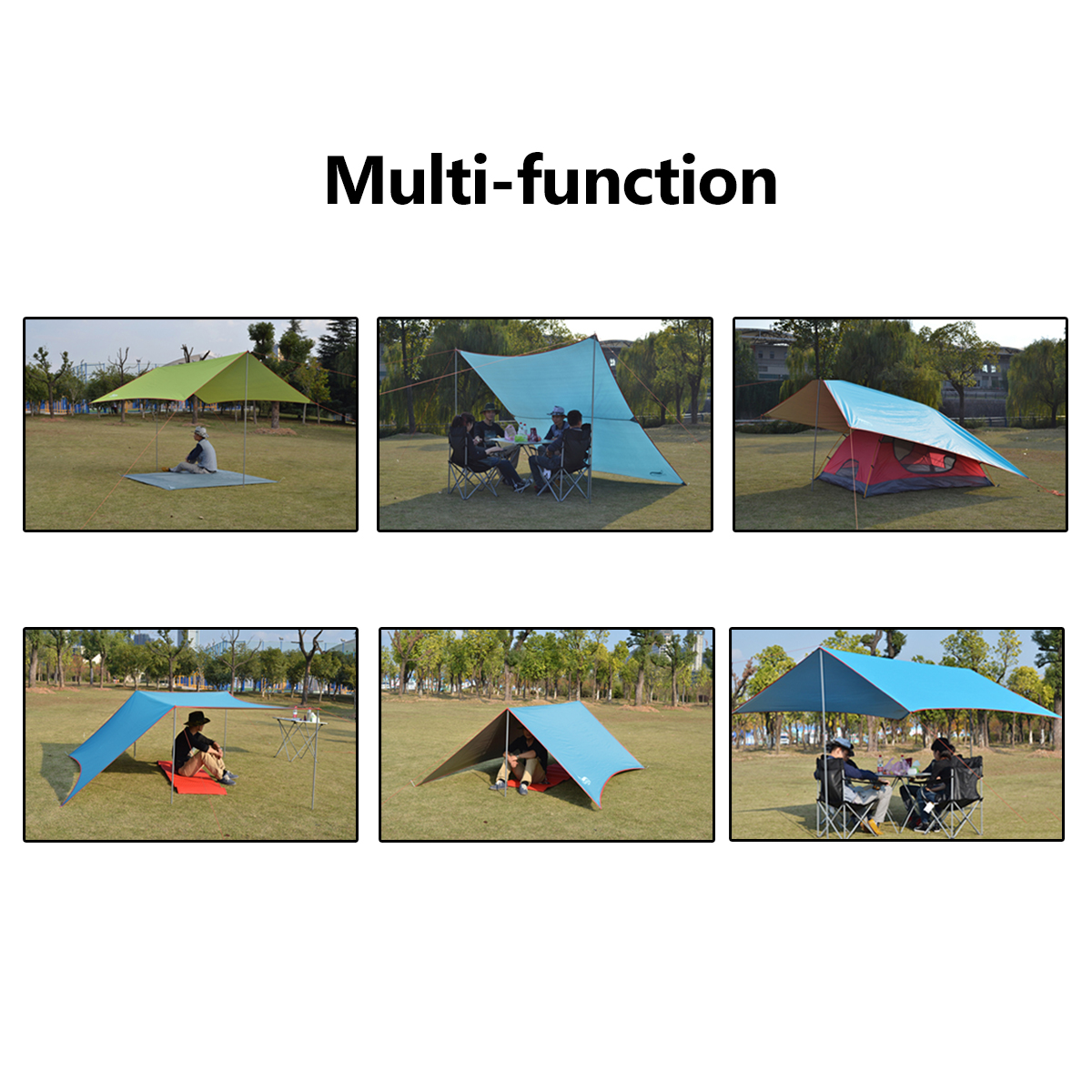 Outdoor 3-4 People Camping Tent Sunshade UV Proof Outdoor Picnic Beach Canopy Shade