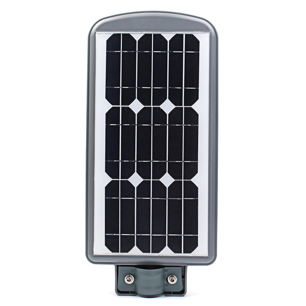 40W Solar Powered Waterproof Radar Sensor Dusk - Dawn LED Street Light with Remote Controller