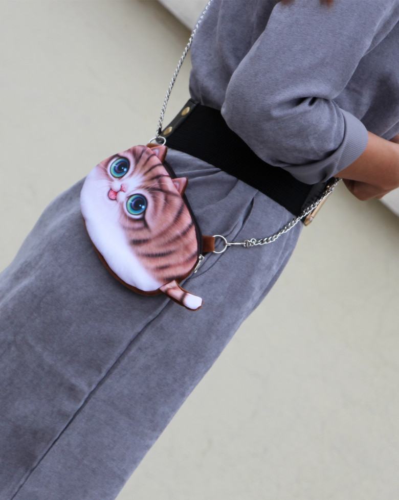 Women's Cat Face Shoulder Bag Crossbody Bag Phone Bag Coins Bag For iPhone Samsung Huawei Xiaomi